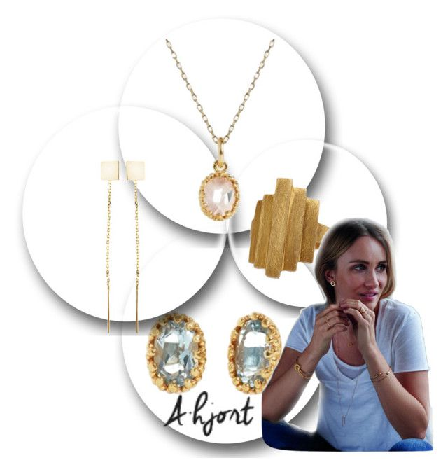 """""""Style your outfit with A-Hjort Danish jewellery"""" by klementina-r ❤ liked on Polyvore featuring Pernille Corydon"""