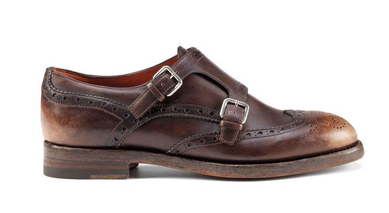 Chic, Minable Santoni Chaussures À Lacets
