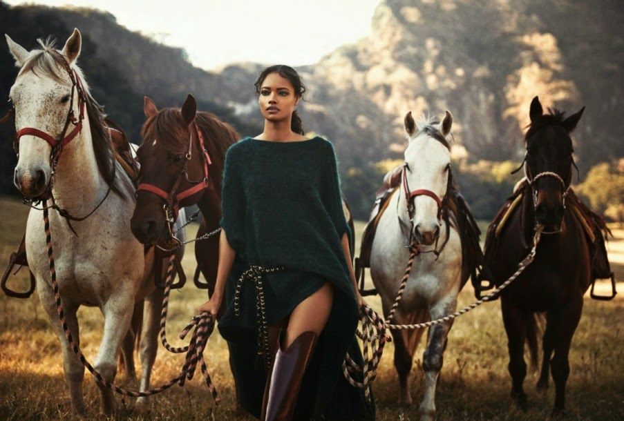 Powerful photograph of a woman leading horses.   Bohemian Diesel: DAYS OF HEAVEN