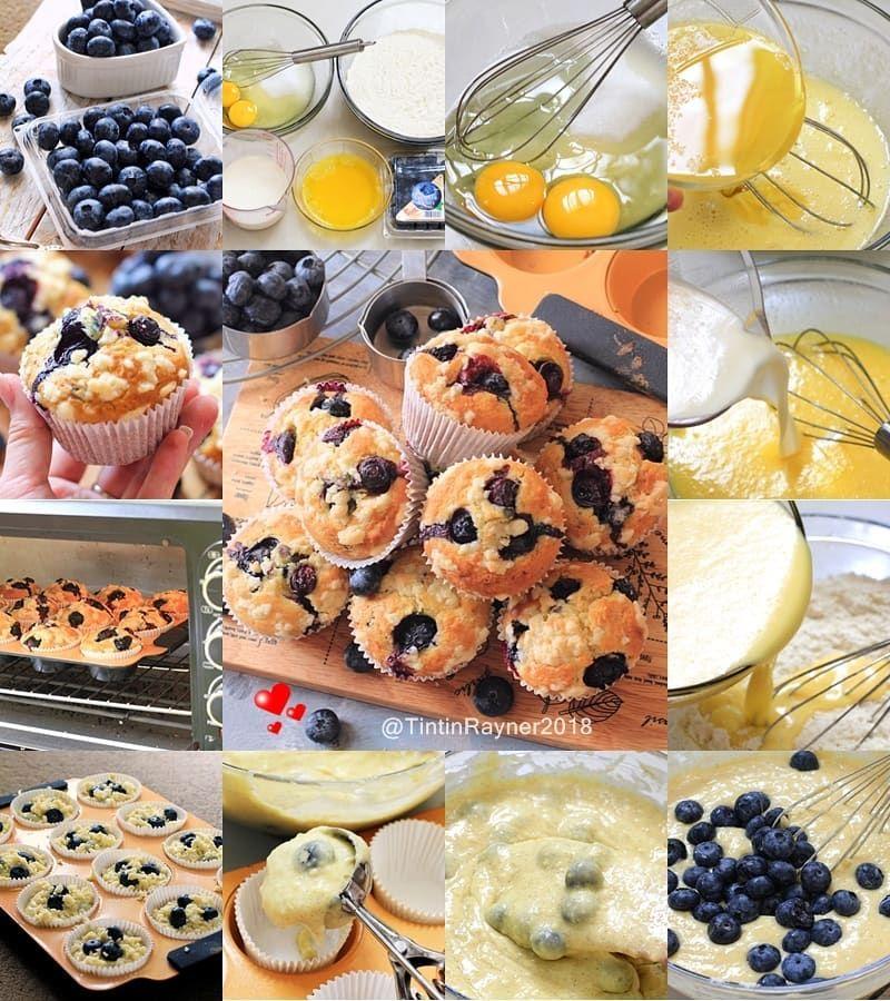 Pin Oleh Yesiagusti Di Blueberry Crumble Muffins