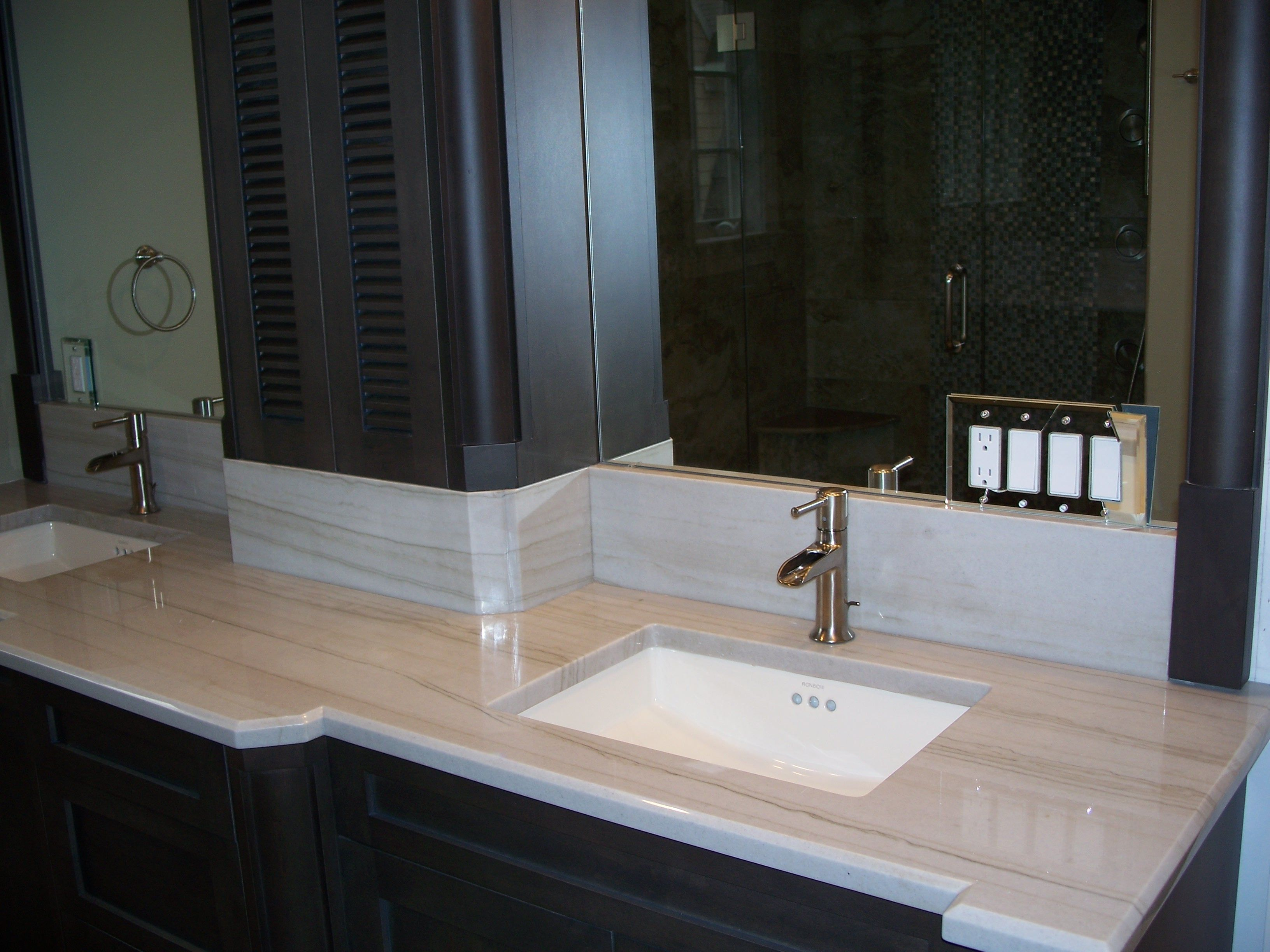 Custom Bathrooms Mont blanc granite, Custom bathroom