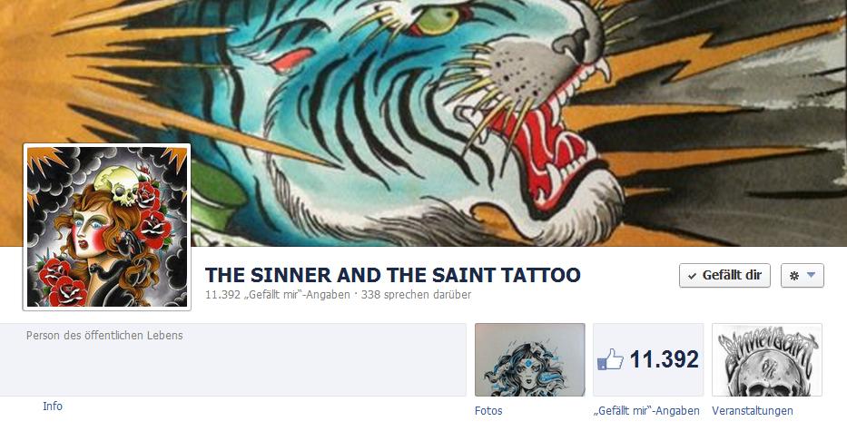 Öcher Unternehmen im Web2.0: The Sinner and The Saint Tattoo