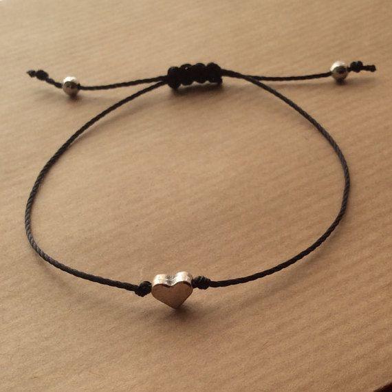 Heart Bracelet Friendship Bracelet Bridesmaid Gift Flower Girl Bracelet Bff Love Bracelet Wish Bracelet Girl Bracelets Flower Girl Bracelets Wish Bracelets