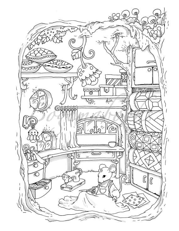 small coloring pages for adults - photo#48