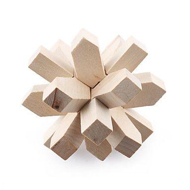 $3.59 Wooden Puzzle / IQ Brain Teaser Professional Level ...