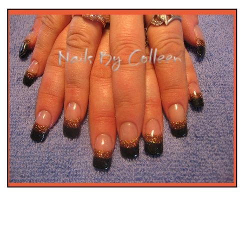 Halloween Colored Acrylic Nails (With images) | Colored ...