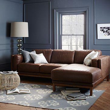 Dekalb Leather 2-Piece Chaise Sectional | Decoraciones de casa ...