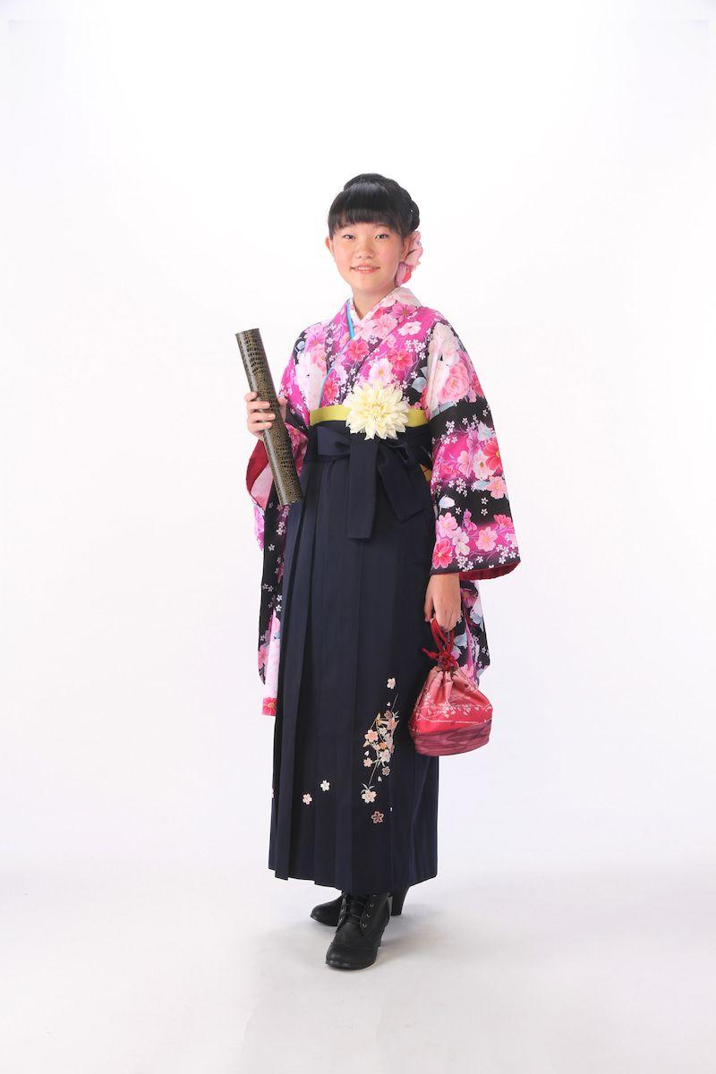 小学生6年生さんの卒業袴前撮り写真 和服 卒業 袴 袴
