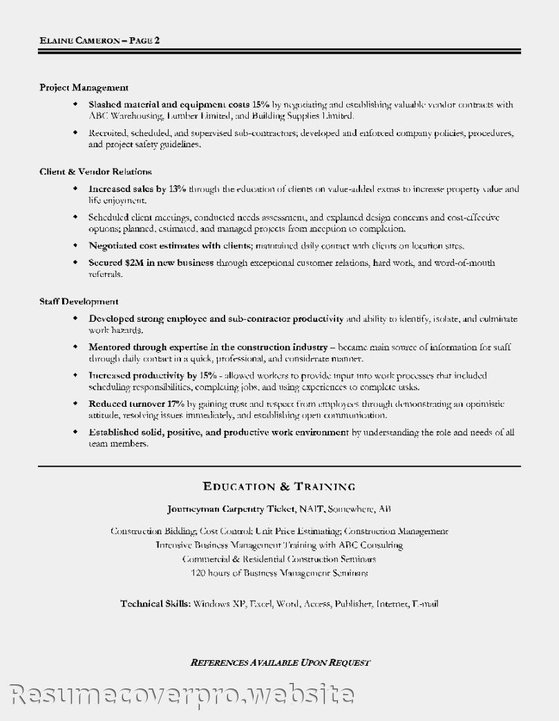 Guidelines For A Resume 28 Sle Resume It Manager Www Collegesinpa Org  News To Go 2 .