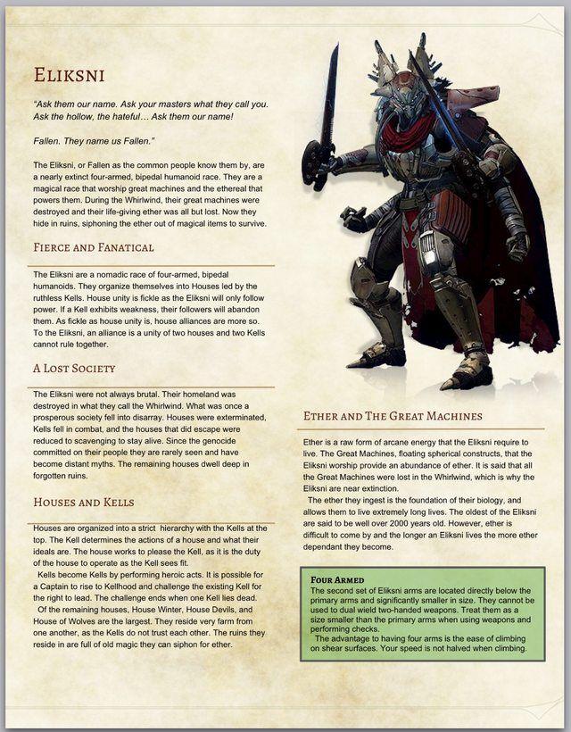 playable races dnd 5e monstrous manual
