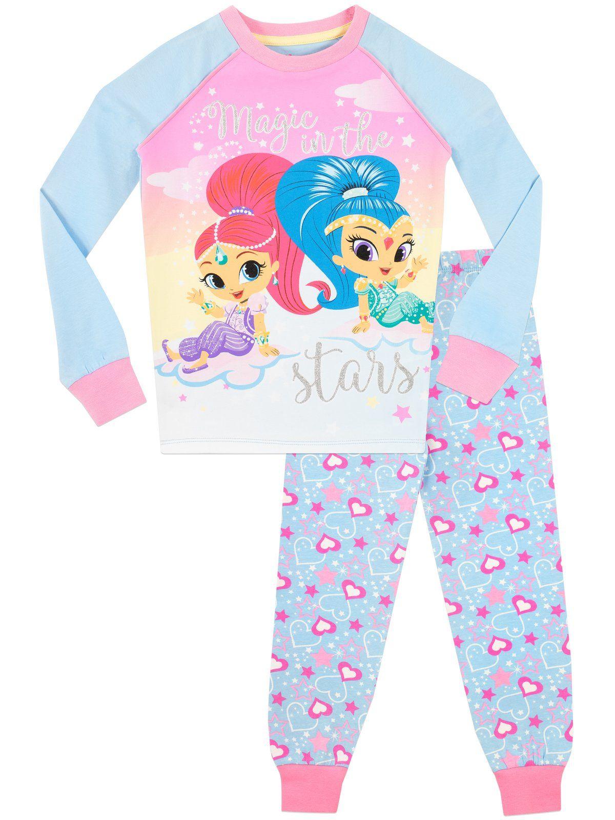 2 Pack Shimmer /& Shine Pyjamas Sizes 18 months 5 years