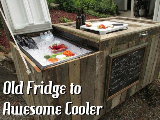 Refrigerator Ice Cooler Upcycle Watch The Video Tutorial