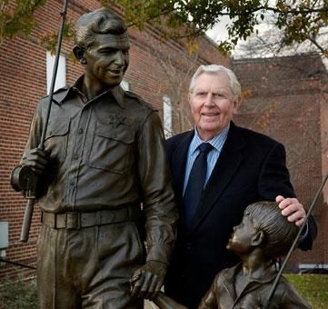 The TVLand statue dedication brought home Mount Airy's favorite son, Andy Griffith
