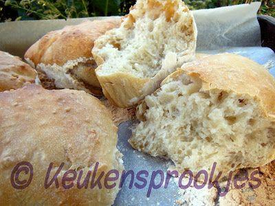 Keukensprookjes: Broodjes (zonder kneden)