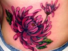 Japanese Chrysanthemum Flower Tattoo