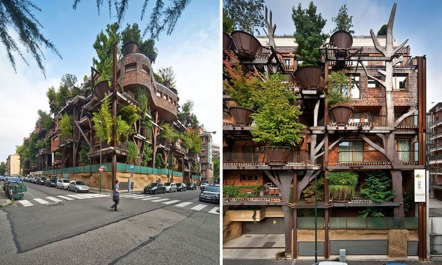 Vertical Forest: Eco-House With 150 Trees Protects Residents from Air and Noise Pollution, http://itcolossal.com/luciano-pia-25-verde/
