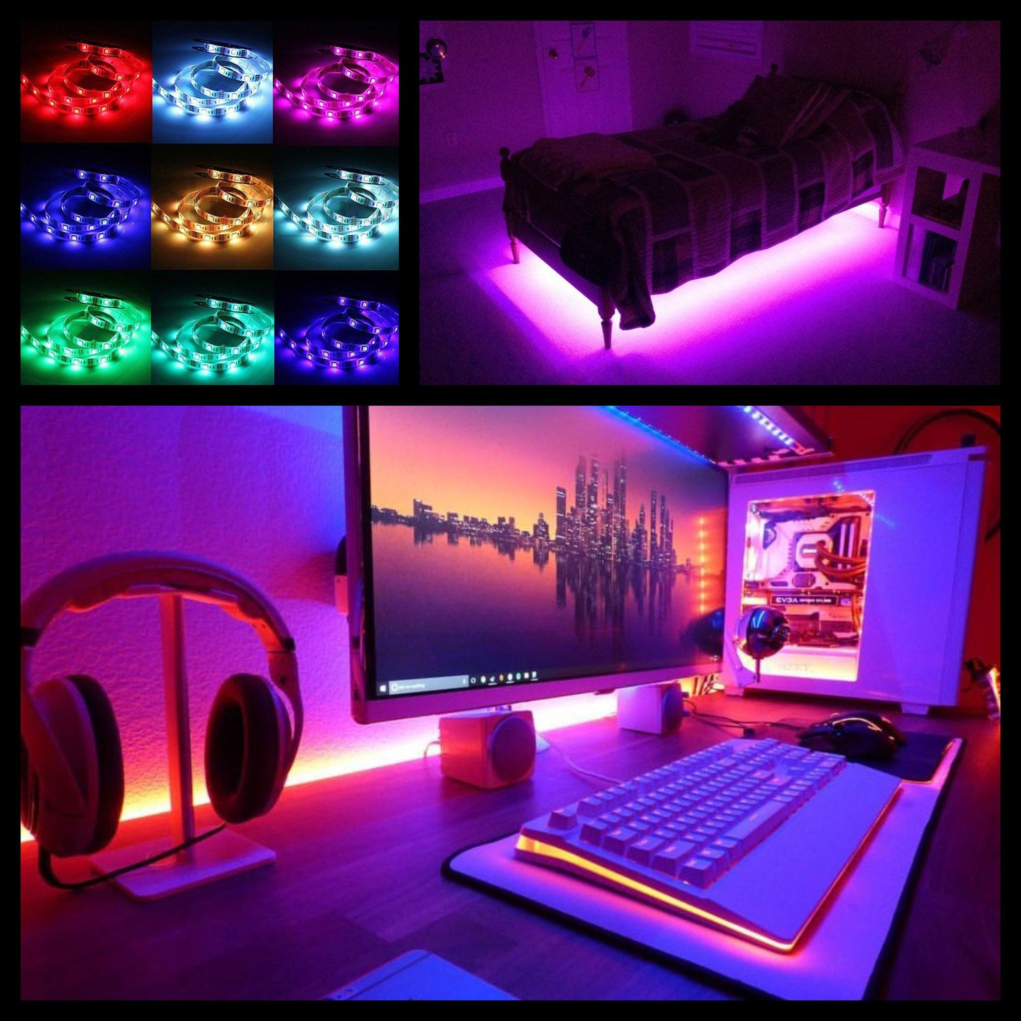 Led Strip Lights In Bedroom Check More At Http Www Arch20 Club 2018 03 25 Led Strip Lights In Bedroom Strip Lighting Led Strip Lighting Bedroom Lighting