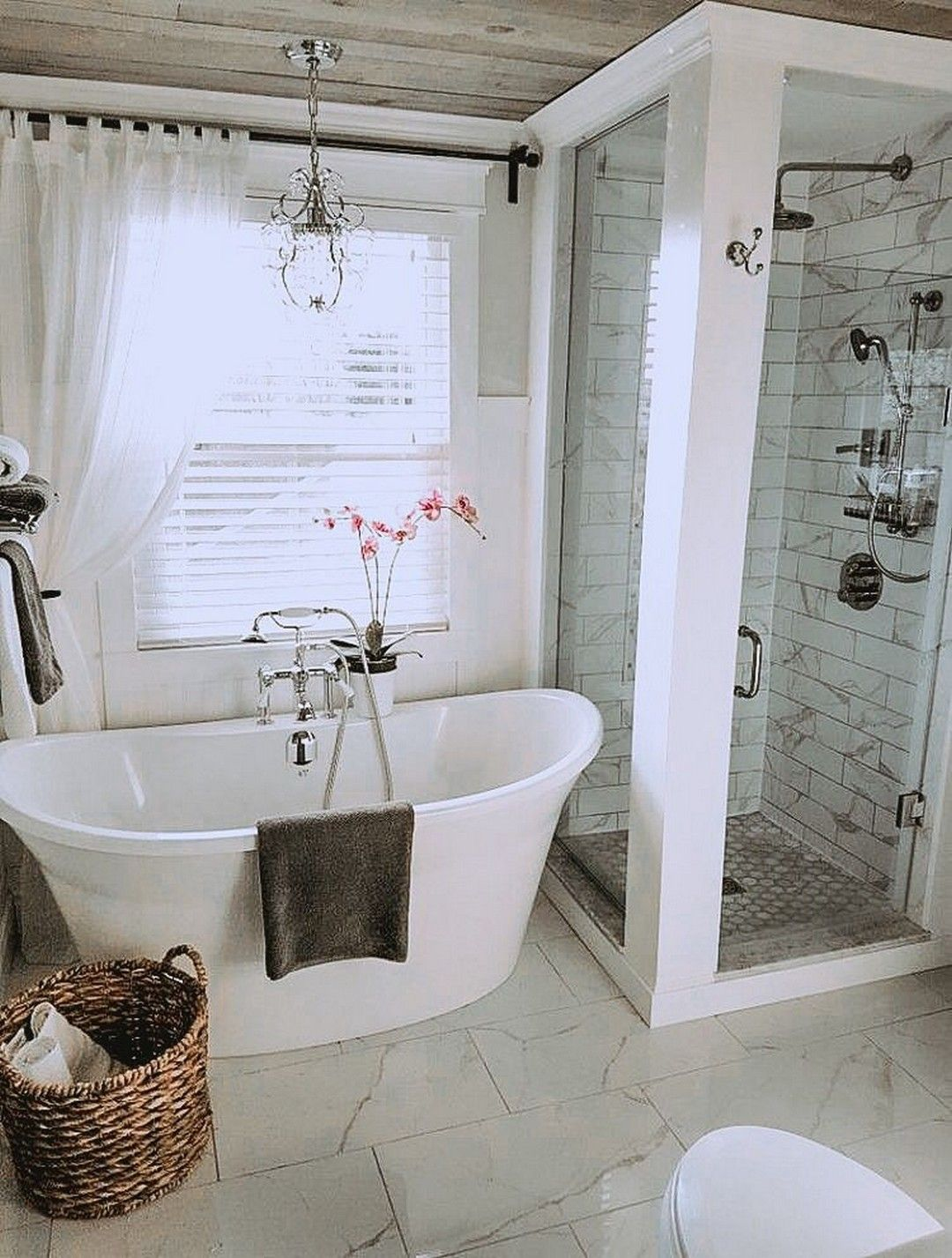 24 Modern Farmhouse Master Bathroom Renovation Master Bathroom Renovation Bathroom Color Schemes Bathroom Remodel Master