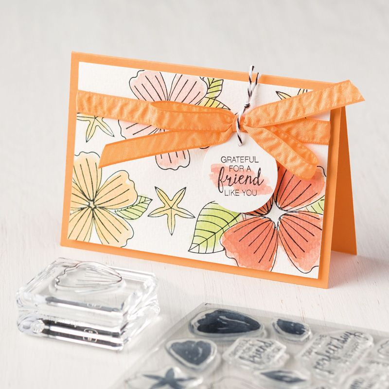 Bunch Of Blossoms Photopolymer Stamp Set By Stampin Up border=