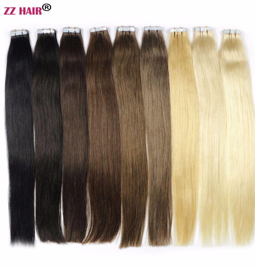 Zzhair 16 18 20 22 24 Tape Hair 100 Brazilian Human Hair