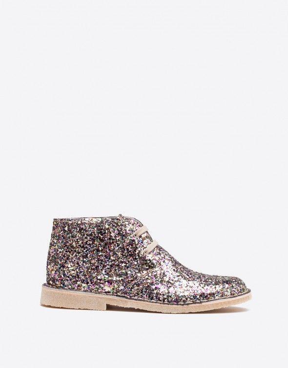 Desert Boot Donna multicolore glitter