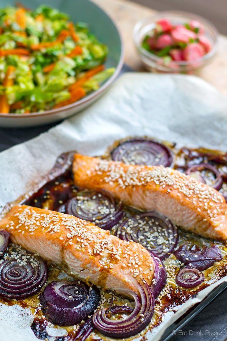 Paleo Orange Teriyaki Baked Salmon | http://eatdrinkpaleo.com.au/paleo-teriyaki-baked-salmon-recipe/