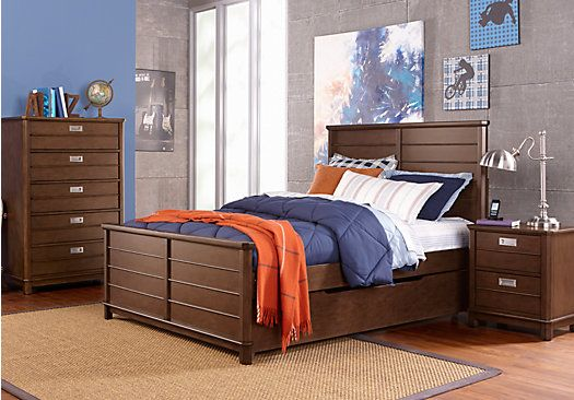 Bay Street Brown 5 Pc Twin Panel Bedroom  $69700 Find affordable