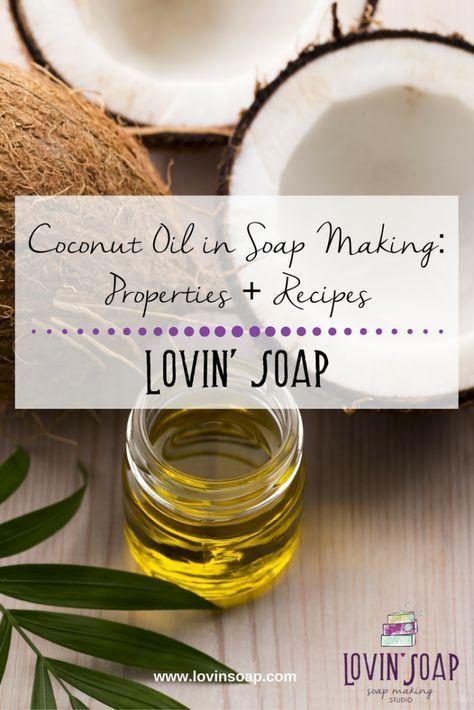 Coconut Oil in Soapmaking -  Soap | Handmade Soap | DIY Soap | Soap Making | Soapmaking | Learn to make soap | Natural Soap | Soap Recipe | Soap Tutorial