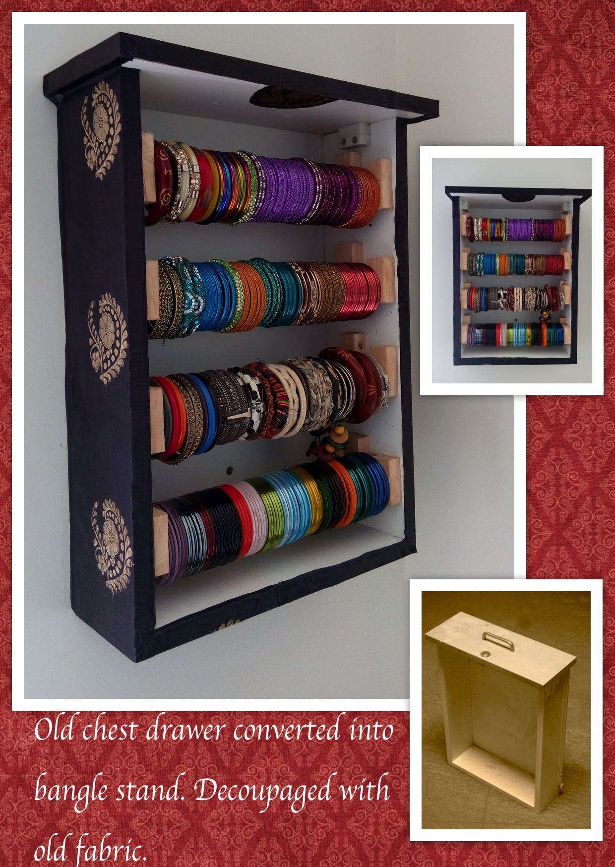 Bangle stand my wife designed and we made | My DIY | Pinterest ...