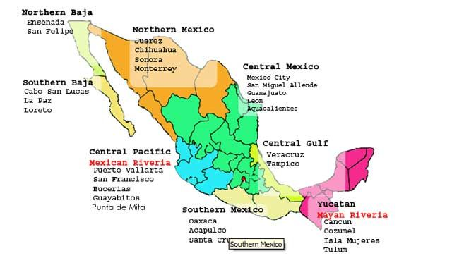 Punta Margarita Mexico Punta De Mita Tourist And Travelers - Mexico regions map