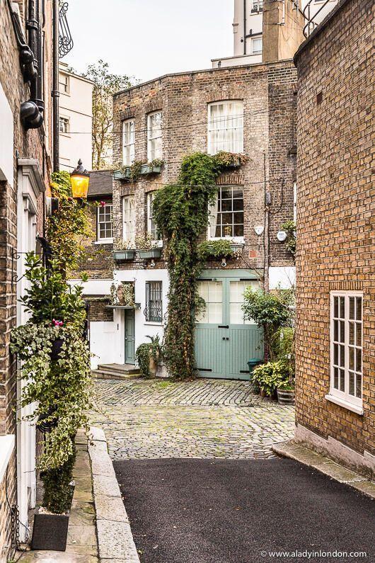 Halkin Mews in Belgravia, London is one of the prettiest streets in the area.  #mews #london #belgravia