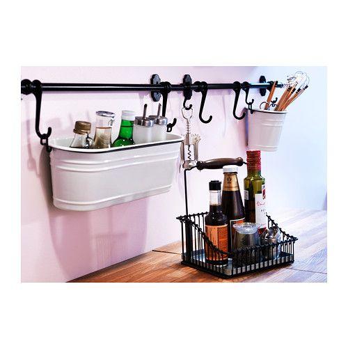fintorp drahtkorb mit griff ikea passt auf den tisch und l sst sich mit den fintorp haken an die. Black Bedroom Furniture Sets. Home Design Ideas