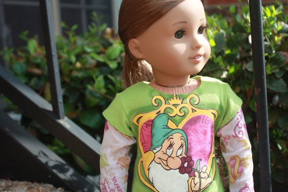 Green Double Sleeved 'Seven Dwarves' tee for by LostinaJungle, $12.00