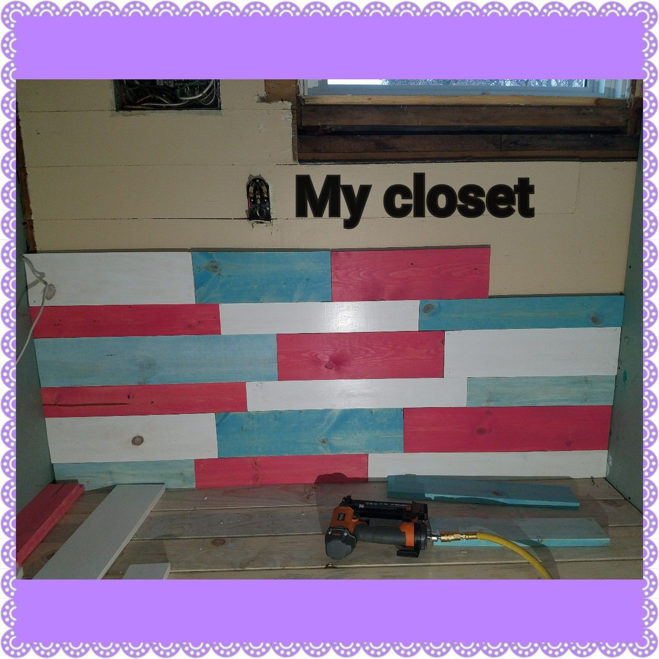 My closet, stained wood