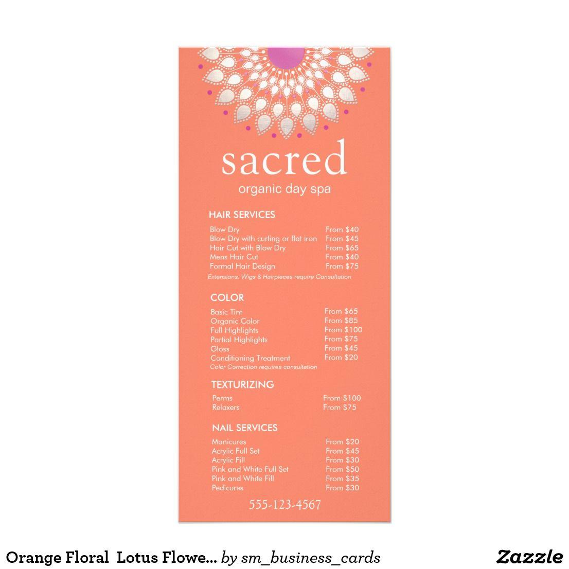 Orange floral lotus flower spa salon list menu lotus flower orange floral lotus flower spa salon list menu izmirmasajfo Gallery