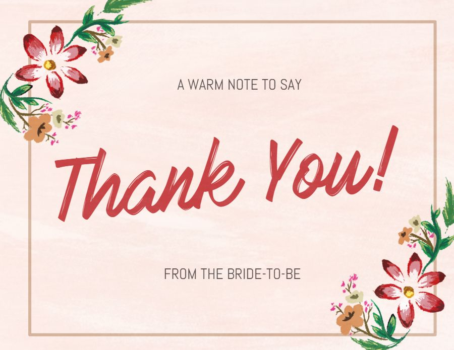 thank you card postcard design template  floral  thank