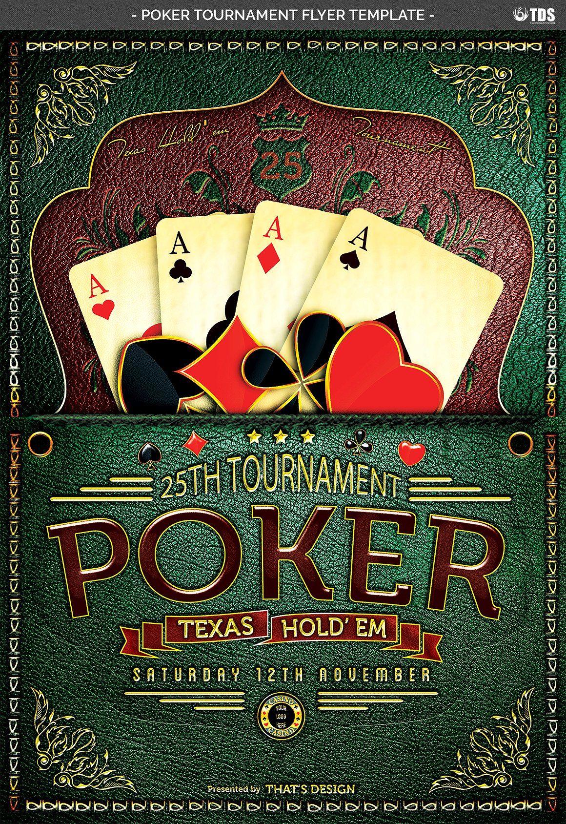 Poker Tournament Flyer Template bleedinchcmsize
