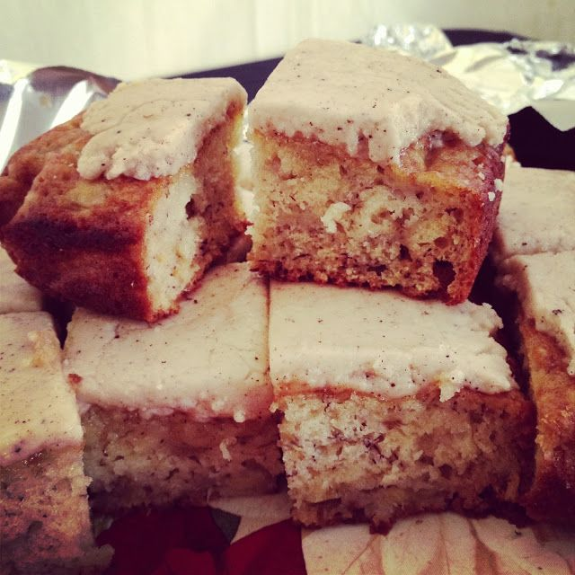 siriously delicious: Banana Bars with Brown Butter Icing