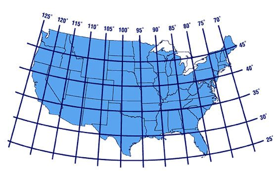 United States Latitudes Longitudes MAPs Pinterest Latitude - Map of the us with longitude and latitude