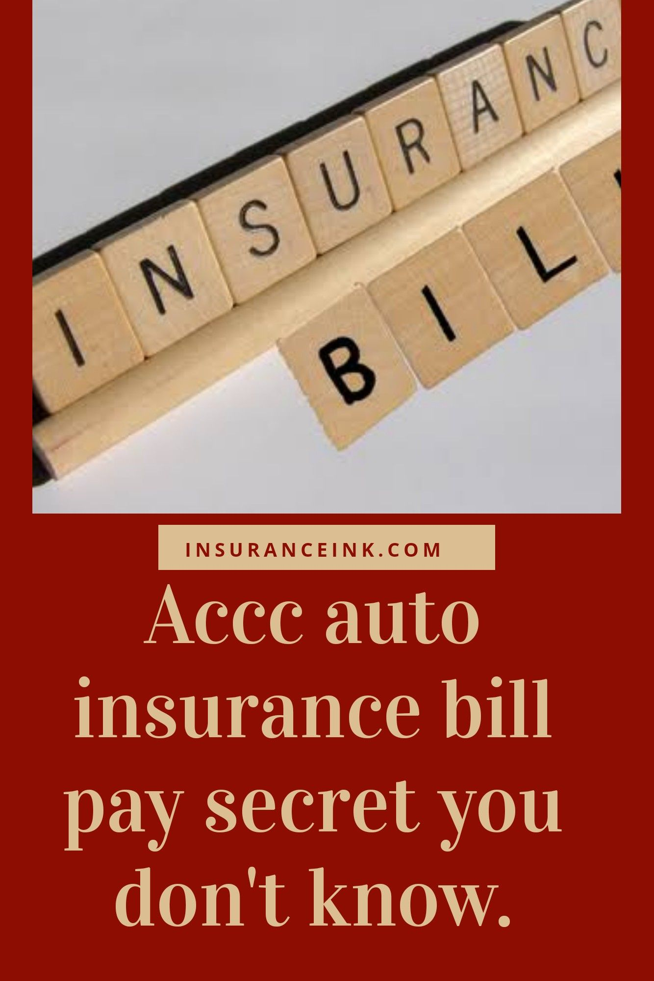 Accc insurance bill pay secret you need to know paying