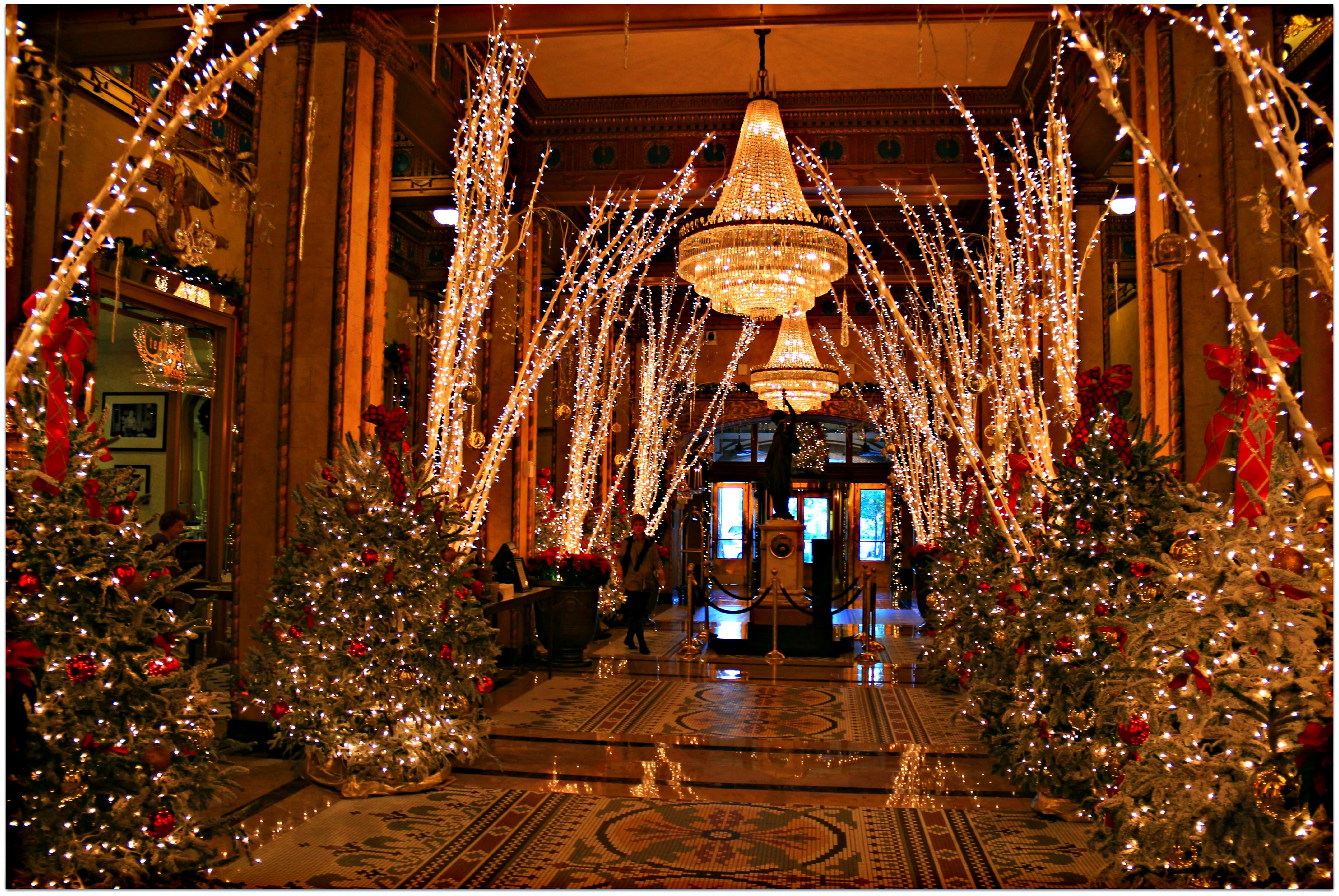Roosevelt Hotel In New Orleans Best Hotel We Have Ever Stayed In  - New Orleans Christmas Lights