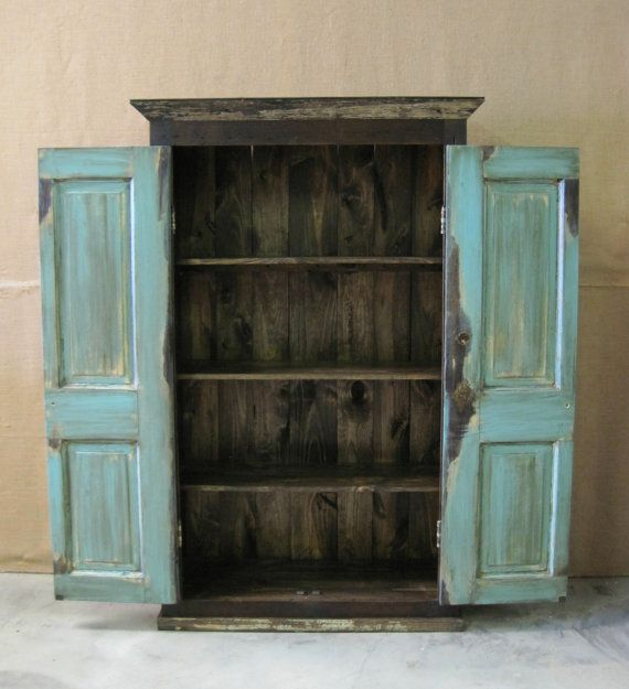 Oversized Reclaimed Wood Storage Armoire By
