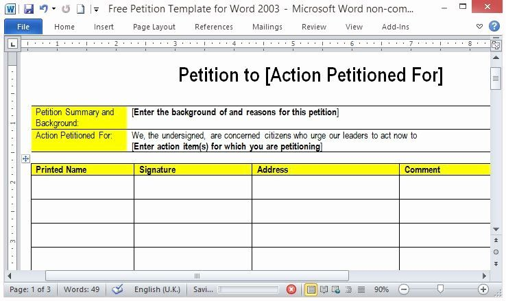 Create A Petition form in 2020 Petition, Templates
