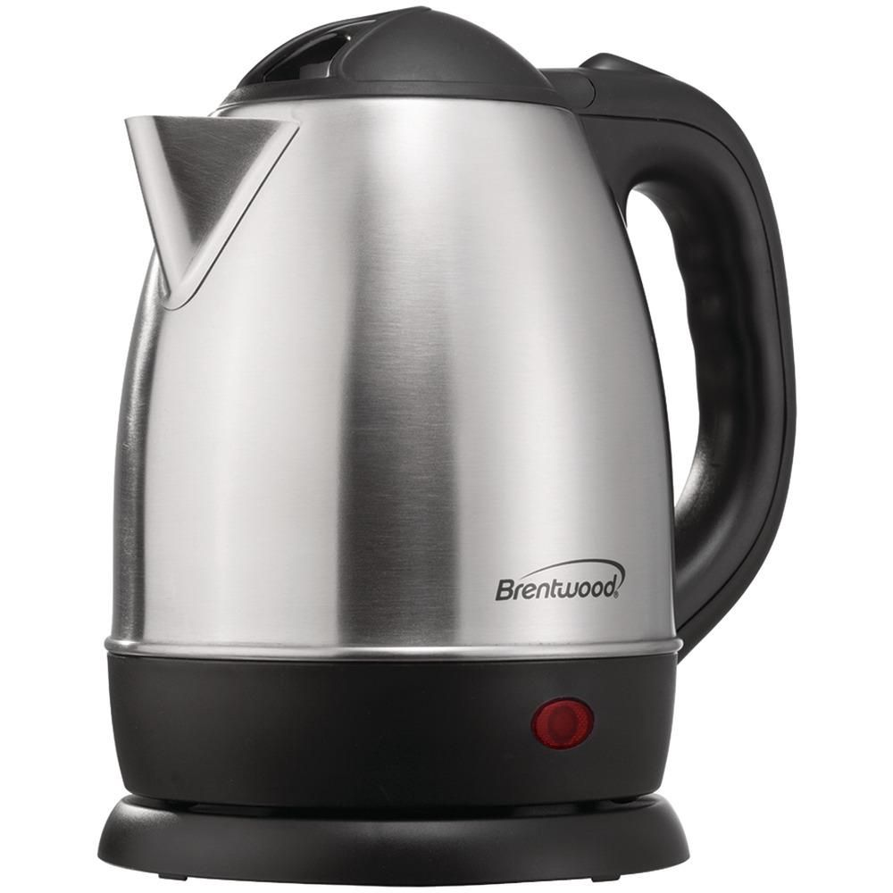 Brentwood 1 2 Liter Stainless Steel Electric Cordless Tea Kettle Kettle Appliances Brushed Stainless Steel