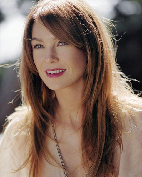 Ellen Pompeo - long auburn hair