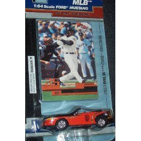 San Francisco Giants 2003 MLB Diecast Ford Mustang Convertible Car with Barry Bonds Fleer Ultra Card by MLB  $11.29