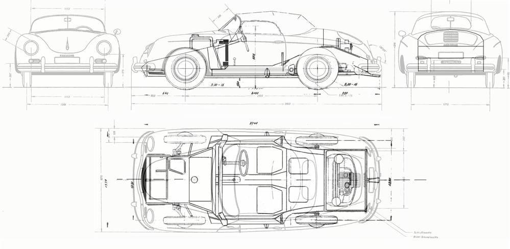 Precice Measurements Speedsterowners 356 Speedsters 550 Rhpinterest: Porsche 365 Engine Diagram At Gmaili.net