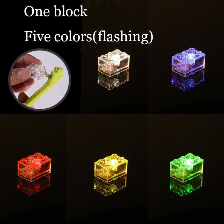 ***Lunar LED LIGHT BLOCK compatible with lego 2x3 MULTI Free axle piece***