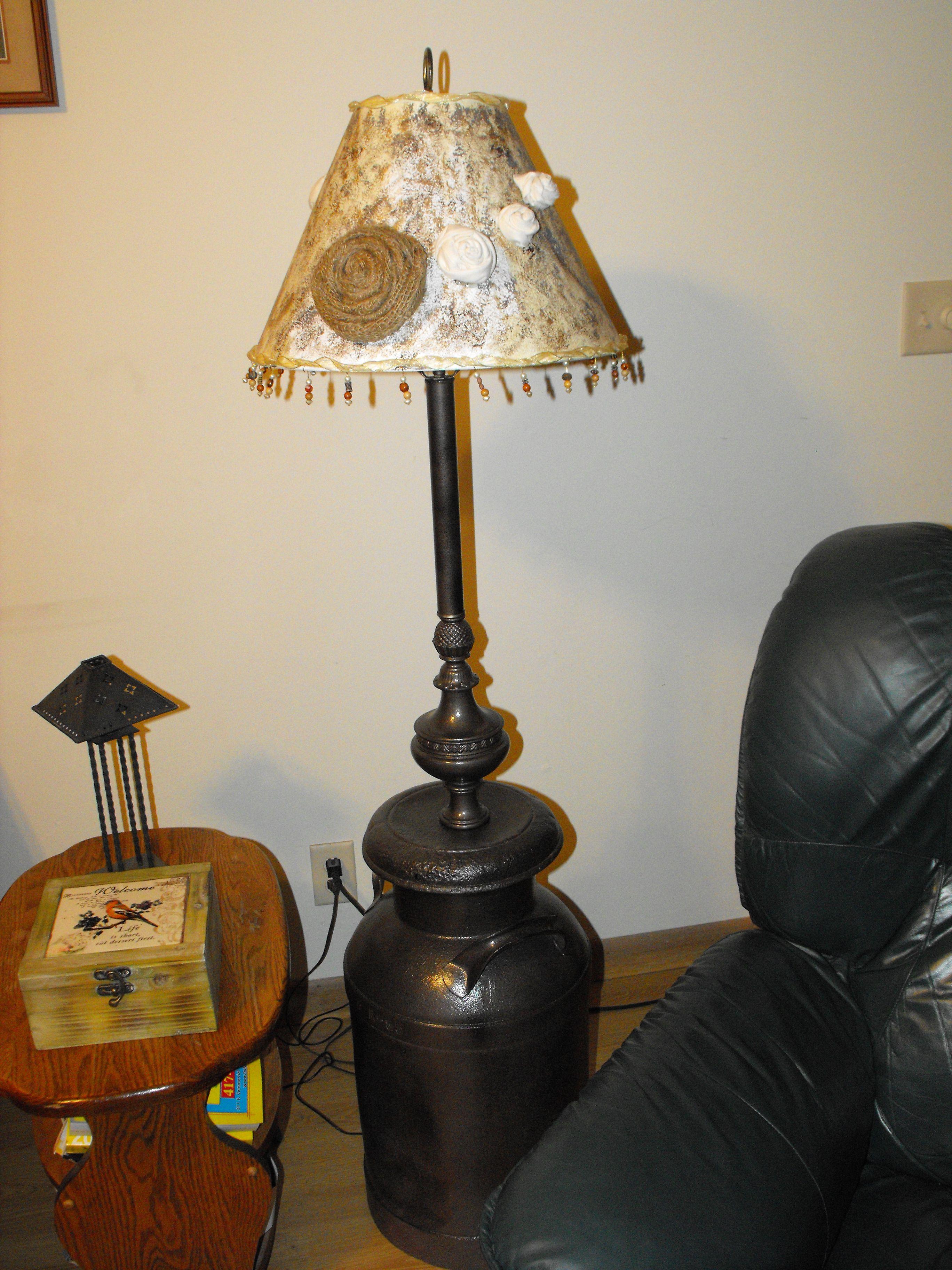 Antique Milk Can Transformed Into Floor Lamp Lamp Decor Lamp Wooden Lamps Design