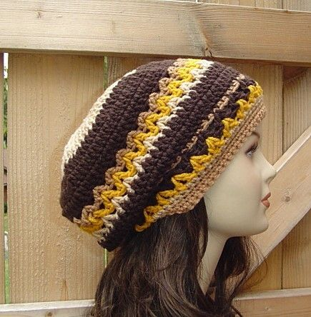 love the Seventies Bohemian Hippie Slouchy Beanie Hat Handmade in ...